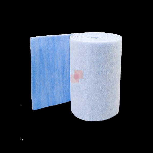 prefiltro aria in poliestere blu e bianco efficienza g4