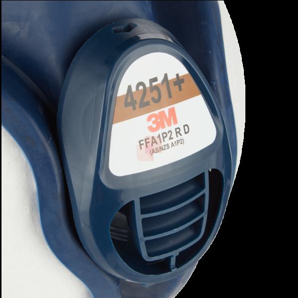 3m 4251c respiratore per gas e vapori a semimaschera ffa1p2 bianco