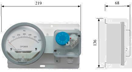 Metromanostato a membrana DPG–PS - Dimensioni