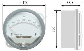 Indicatori di Pressione Differenziale DPG - Disegno Ingombro [mm]