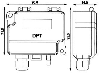 Trasduttore di Pressione Differenziale DPT-R8 - Dimensioni