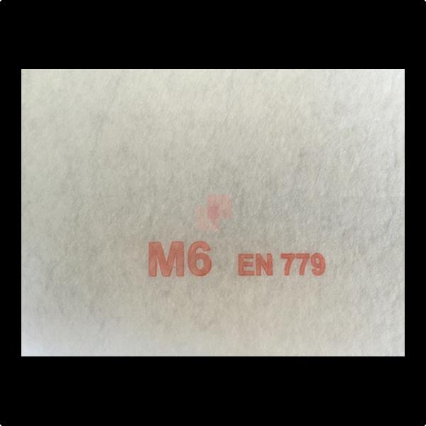 Filtro in poliestere termolegato M6 in pannelli su misura