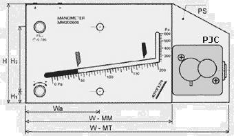 Metromanostato a colonna di liquido - Dimensioni
