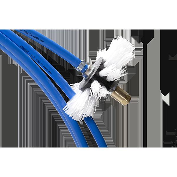 Albero Flessibile con attacco a mandrino per pulizia canali aria con spazzole rotanti Standard Flex