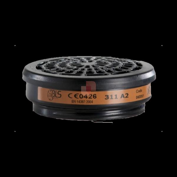 Filtri per respiratore con attacco a vite BLS 311 A2 per semimaschere