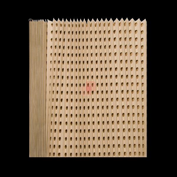 Filtro inerziale pieghettato in cartone auto-estinguente PGTC