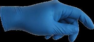 guanto blu certificato EN 374-5 virus