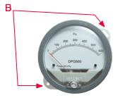 Indicatori di Pressione Differenziale DPG - Montaggio in superficie