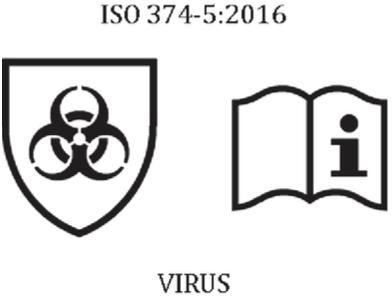 marcatura guanti monouso virus