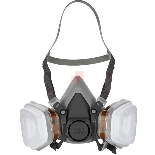 maschera 3M 6200 con filtri A2 P2 Kit 6002c