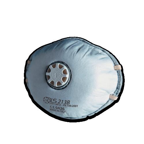 Maschera a coppa con carboni attivi e valvola