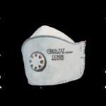 Maschera piatta con valvola e carboni attivi