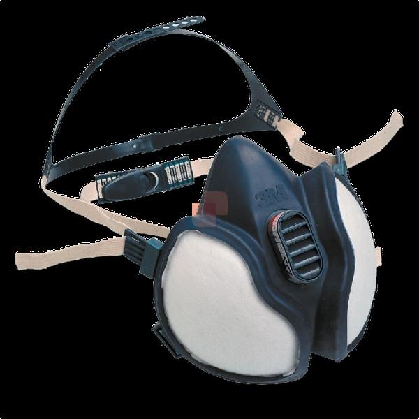 Semi-Maschera Protettiva respiratore 3M 4277 a carboni attivi
