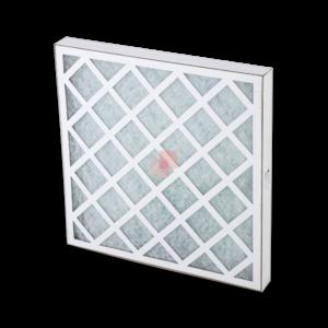 Cardboard Framed Panel Filter with Fiberglass