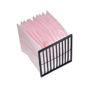 Bag Filter pink F7 10 pockets - plastic support frame