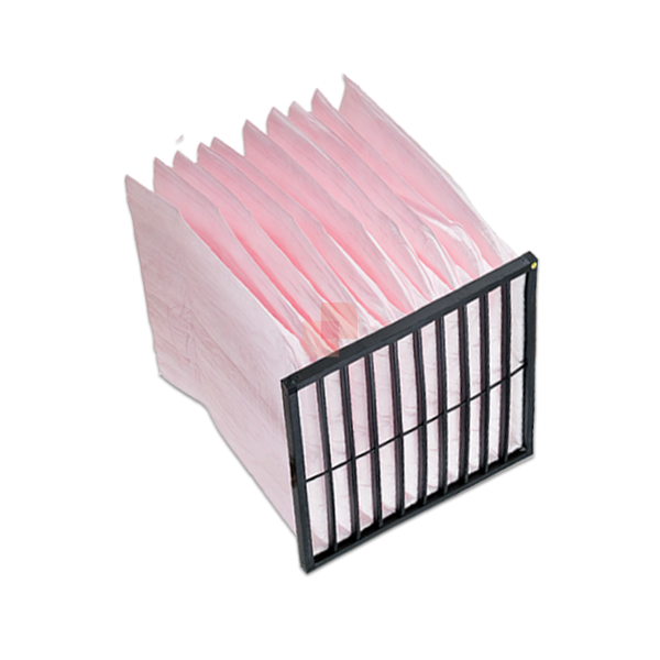 Bag Filter pink F7 10 pockets - plastic support frame