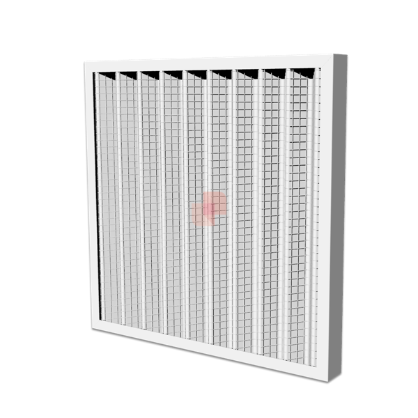 Metal Pleated Panel Air Filter Class G4 dust filtration in HVAC systems