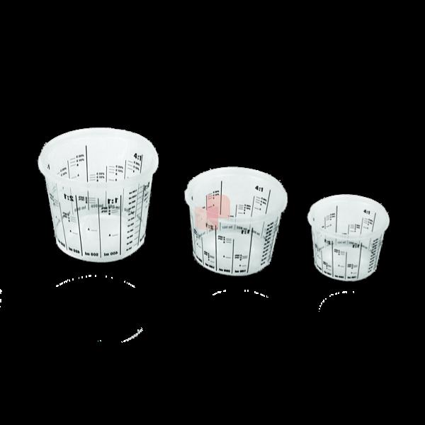 Tazze graduate in plastica per preparazione vernici